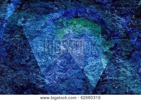 blue mosaic cubism grunge texture