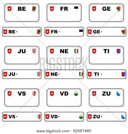 Plate numbers, Switzerland