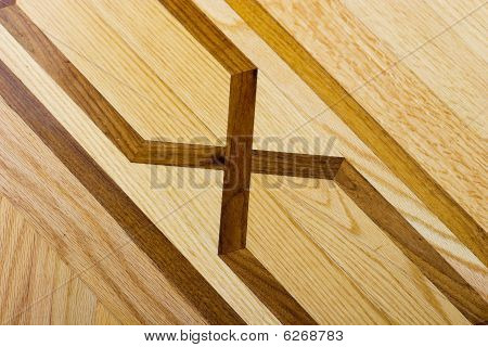 Hardwood parquet floor with pattern