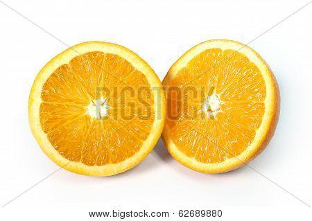 Halved Fresh And Healthy Orange Fruit Stillife