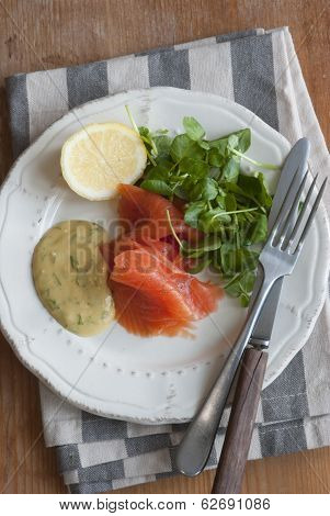 Salmon With Watercress