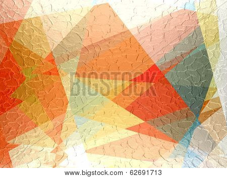 Mosaic cubism background metal plate