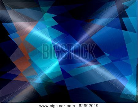 Cubism Metallic Stainless Steel Metal Background