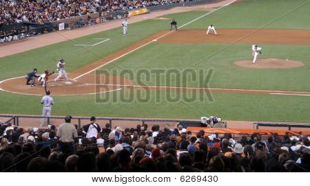 San Francisco Giants Starting Pitcher Tim Lincecum Fires In A Fast Ball During A Game