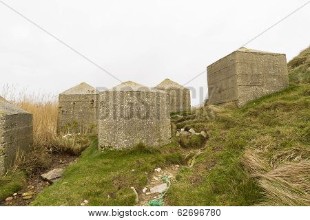 Anti Tank Cubes, Stone World War Two Invasion Coastal Defences
