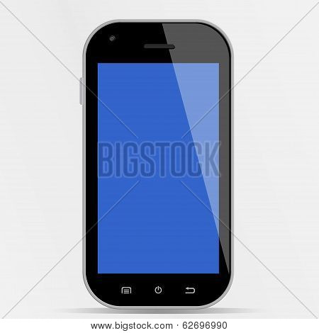 Smartphone With Blue Display