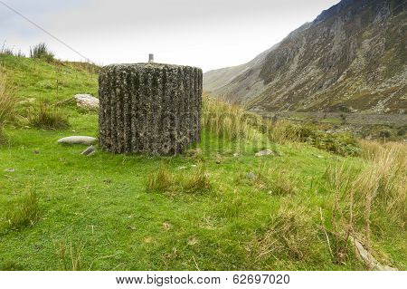 Spigot Mortar Or Blacker Bombard Base, War Two Invasion Defence, North Wales.