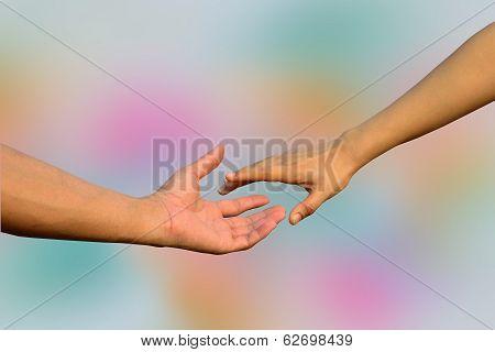 Handshaking, Hands In Hands, Reaching, Stretching Hands,