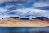 picture of jammu kashmir  - Himalayan mountain lake in Himalayas Tso Moriri  - JPG