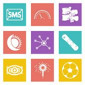 foto of spinal disks  - Color icons for Web Design and Mobile Applications set - JPG