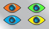 vector color focus eye