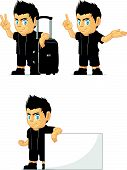 Spiky Rocker Boy Customizable Mascot 14