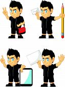 Spiky Rocker Boy Customizable Mascot 18