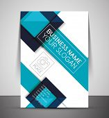 picture of booklet design  - CMYK Business Corporate Flyer Template  - JPG