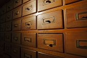 Old Wooden Card Catalog, Spot Light.