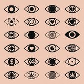 Set Of Various Eye Icons