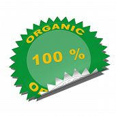 Organic product badge.