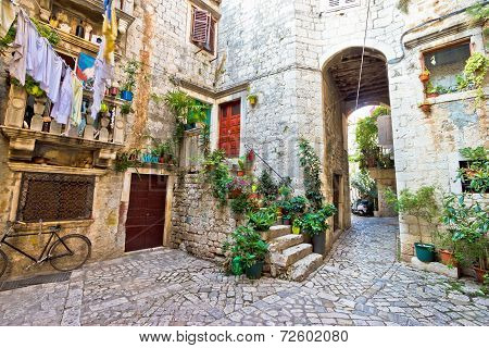 Old Stone Street Of Trogir