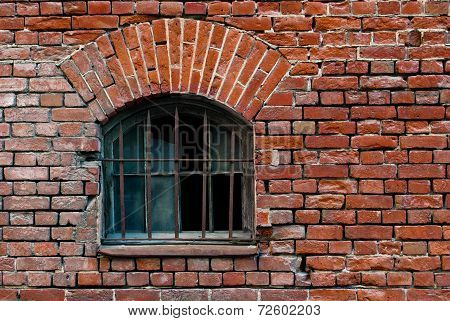 Window with lattice.