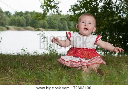 Baby Near The Lake