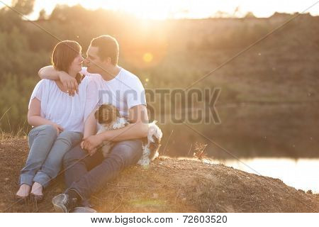 Romantic Couple On The Cliff