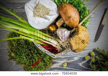 Ingredients Of Italian Risotto