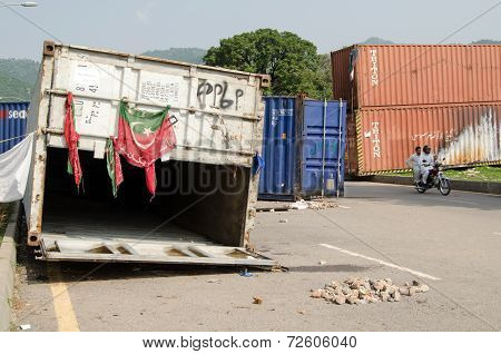 Protest Containers, Islamabad