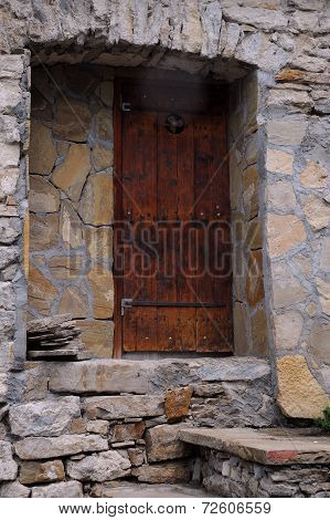 Old House Entrance In Bulgaria