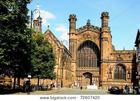Chester Cathedral West Front.