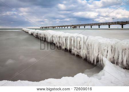Groyne In Winter