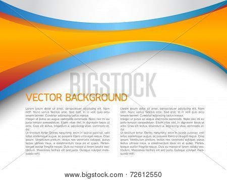 Abstract vector background illustration design orange and blue color