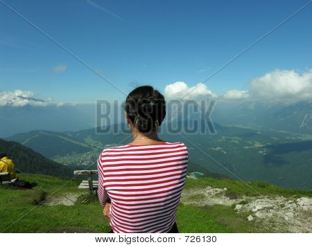 Woman Looking At Seefeld