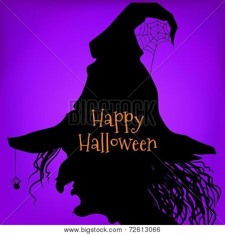 Halloween witch, purple