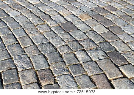 Gray uneven paving stones