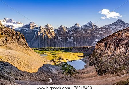 Mountain Range View From Sentinel Pass, Rocky Mountains, Canada