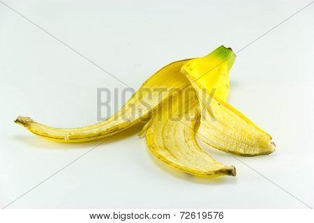 Bananas Skin on white background.