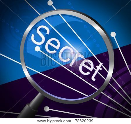 Magnifier Secret Represents Magnify Discreet And Searching
