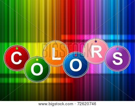 Colors Color Shows Painted Colourful And Multicolored