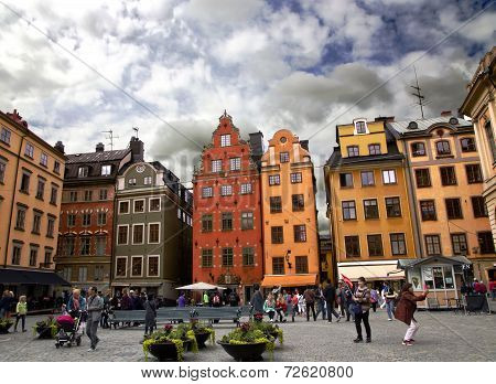 Medieval Stortorget square in Stockholm