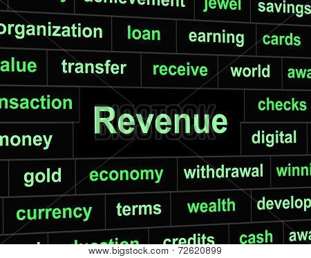 Revenue Earnings Means Revenues Earns And Wage