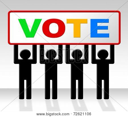 Vote Poll Represents Decide Elect And Choosing