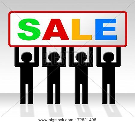 Sale Discount Indicates Retail Reduction And Save