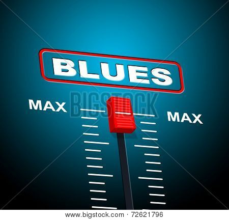 Blues Music Represents Jazz Band And Audio