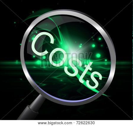 Costs Magnifier Represents Magnification Price And Expenditure