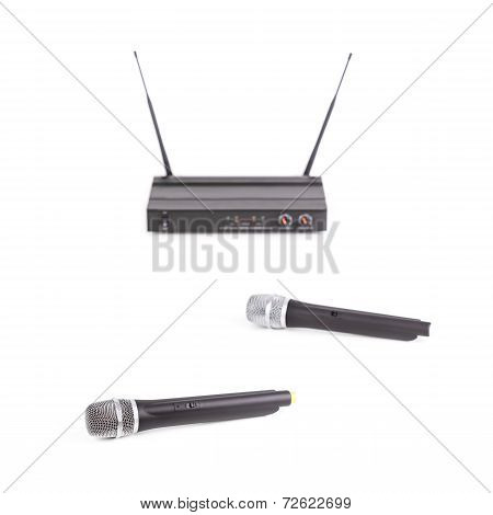 Cordless microphones and transmitter