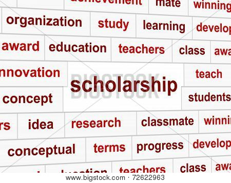 Scholarship Educate Means College Learned And Certificate