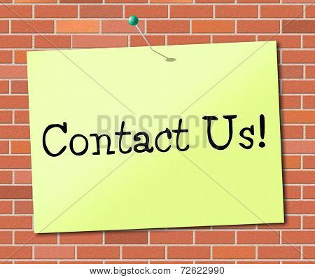 Call Us Indicates Chat Phone And Telephone