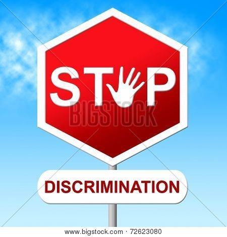 Stop Discrimination Indicates Warning Sign And Bias
