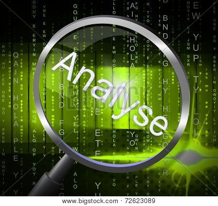 Magnifier Analyse Indicates Data Analytics And Analysis
