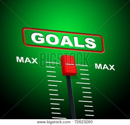 Goals Max Indicates Upper Limit And Ceiling